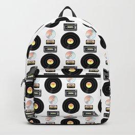 Eighties Music Pattern Backpack
