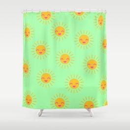 Litle Sunshine (mint) Shower Curtain