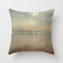 Three surfers abstract Throw Pillow