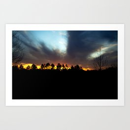 Wintery Sunset Art Print