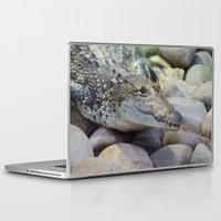 crocodile Laptop & iPad Skins featuring Crocodile by PICSL8