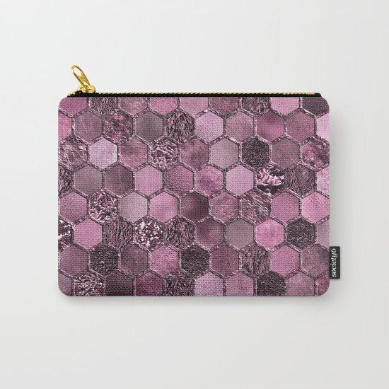 Pink & purple geometric hexagonal elegant & luxury pattern Carry-All Pouch