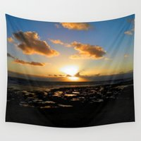ireland Wall Tapestries featuring Lahinch, Ireland by American Artist Bobby B