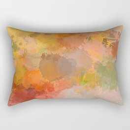 Modern contemporary Yellow Orange Abstract Rectangular Pillow