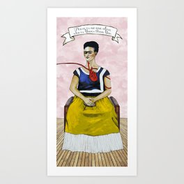Frida Kahlo with Dr. Suess Quote #2 Art Print