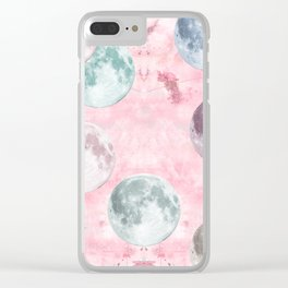 Moon Phases Pink Moon Yoga Mat Clear iPhone Case
