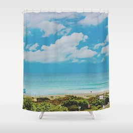 Overlooking Ponto Beach Shower Curtain