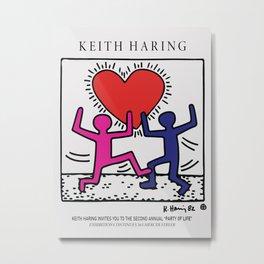 Lovers - Keith Art, Exhibition Poster, Japan Vintage Print Metal Print