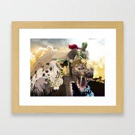 Pet Hyena Framed Art Print