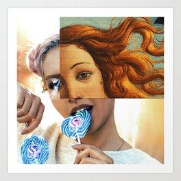 Venus girl Art Print