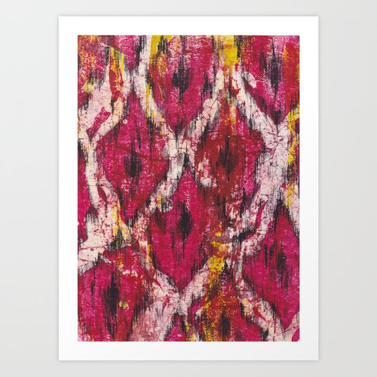 Ikat1 Art Print