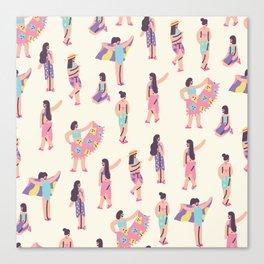 The Summer Girls Canvas Print