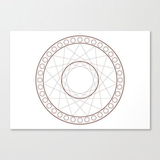 Anime Magic Circle 17 Canvas Print