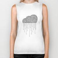 cloud Biker Tanks featuring Cloud by Milos