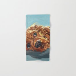 Newton the Lounging Cocker Spaniel Hand & Bath Towel