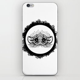 Half Cute Wild Cat iPhone Skin