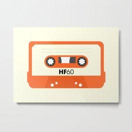 Orange Cassette #1 Metal Print