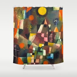 "Paul Klee ""Der Vollmond Hoch (The Full Moon)"" (1919) Shower Curtain"