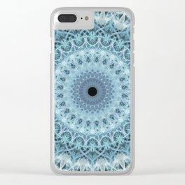 Mandala in cold winter tones Clear iPhone Case