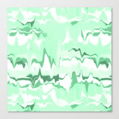 Marbled in emerald Canvas Print