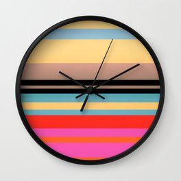 Sunset Stripes Wall Clock