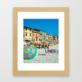 TAN LINES OPTIONAL Framed Art Print