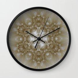Bright White Flower Kaleidoscope Wall Clock