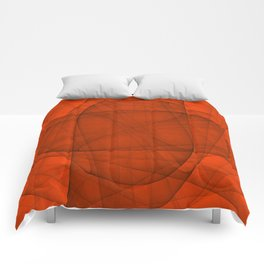 Fractal Eternal Rounded Cross in Red Comforters