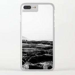 Cape Vidal in B&W Clear iPhone Case