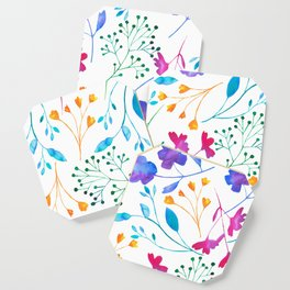 Bold & Colourful Fluro Floral Pattern Coaster