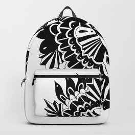 Black Lace Peony Backpack