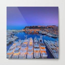 Monaco Yacht World Metal Print