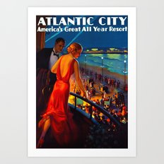 Atlantic City New Jersey Travel Art Print