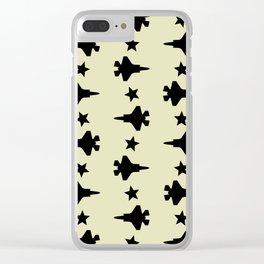 F-35 Lightning II Pattern Clear iPhone Case