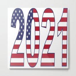 2021 American Flag USA Patriot Metal Print