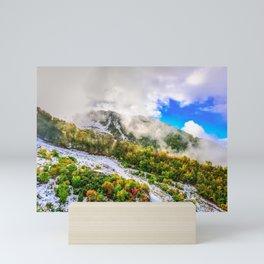 Autumn in Mountains Mini Art Print