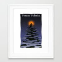 atheist Framed Art Prints featuring Solstice by Donartoons