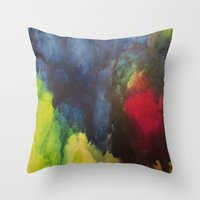 broken Throw Pillows featuring Broken by Benito Sarnelli
