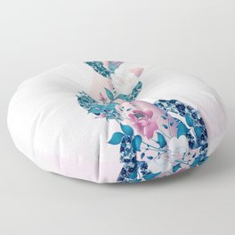 Hand and Snake Floor Pillow
