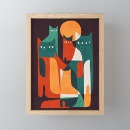 Cat Family Framed Mini Art Print