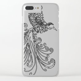 Flying Hummingbird Clear iPhone Case