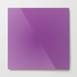 Even Horizontal Stripes, Blue and Red, XS Metal Print