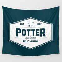 hunting Wall Tapestries featuring Potter Authentic Relic Hunting by Dorothy Leigh