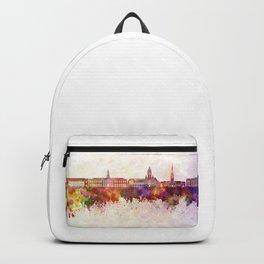 Harvard skyline in watercolor background Backpack