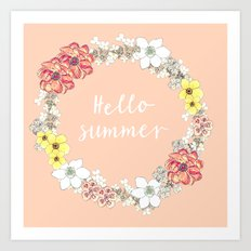 Hello Summer Art Print
