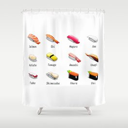 Sushi lover tshirt gift idea  Shower Curtain