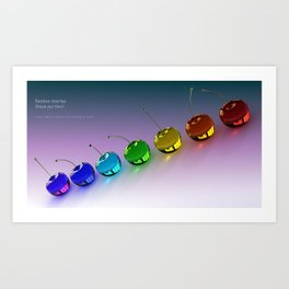 Rainbow Cherries - By THE-LEMON-WATCH Art Print