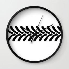 Tractor Tyre Tread Marks Wall Clock