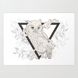 Owl Boho Art Print