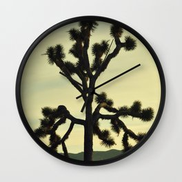 JOSHUA TREE - NATIONAL PARK - MOJAVE DESERT - CALIFORNIA Wall Clock